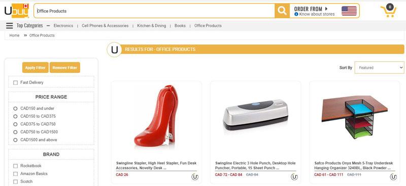 محصولات دفتری ubuy