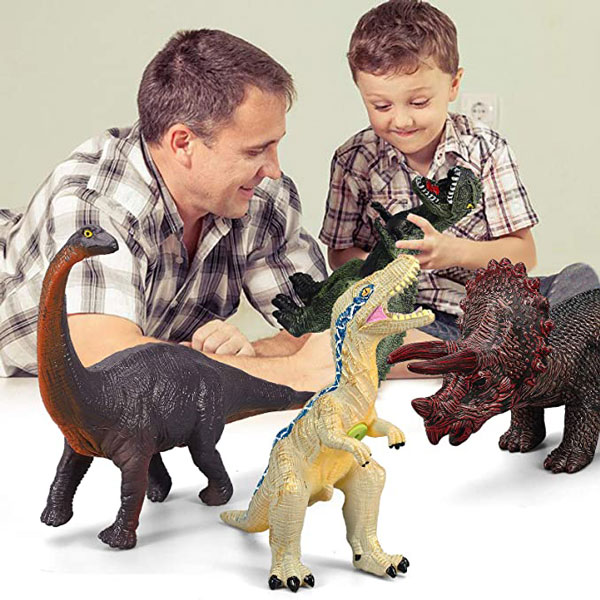 6 Piece Dinosaur Toys for Kids and Toddlers