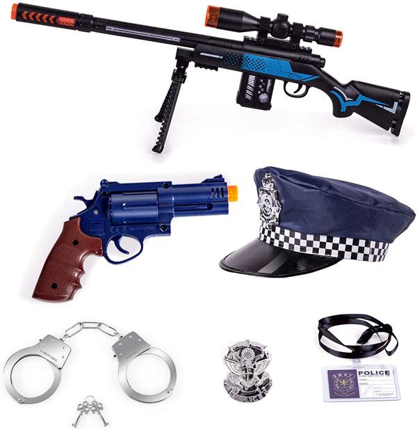 Tuko Kid Police Costume Pretend Playset Toys